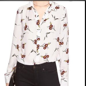 Banana Republic blouse with floral print.